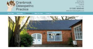 Cranbrook Osteopaths SOSWEB Portfolio Image.