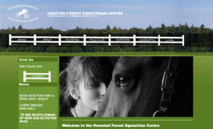 Hempsted Forest Equestrian Centre SOSWEB Portfolio Image.