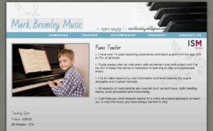 Mark Bromley, Piano Teacher