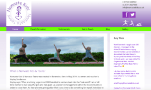 Namaste Kids - SOSWEB Portfolio Image.