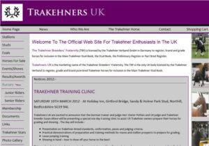 Trakehners UK SOSWEB Portfolio Image.