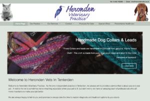 Heronden Vets SOSWEB Portfolio Image.