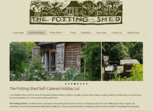 The Potting Shed SOSWEB Portfolio Image.