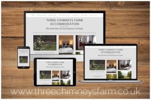 Three Chimneys Farm Website Portfolio Image