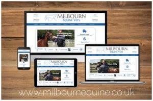 Milbourn Equine Website Portfolio Image